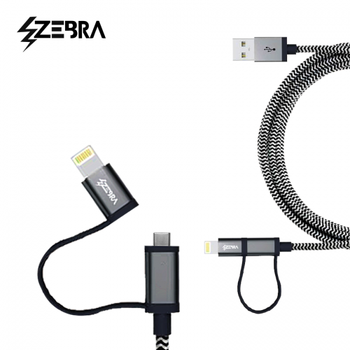 Zebra ™ Ultra Durable Braided Cable ™ - Widgetcityhub