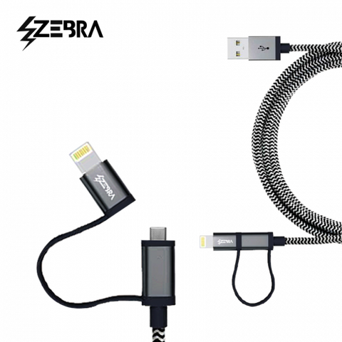 Zebra ™ Ultra Durable Braided Cable ™