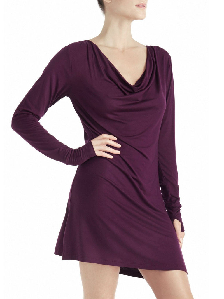 Long Sleeve Cowl Mini Dress Dresses by Le Marché by NP