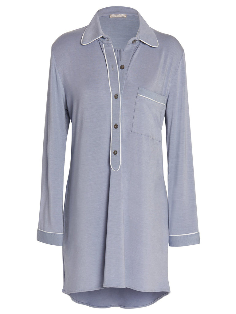 Amanda Piped Sleepshirt Dresses by Naked Princess