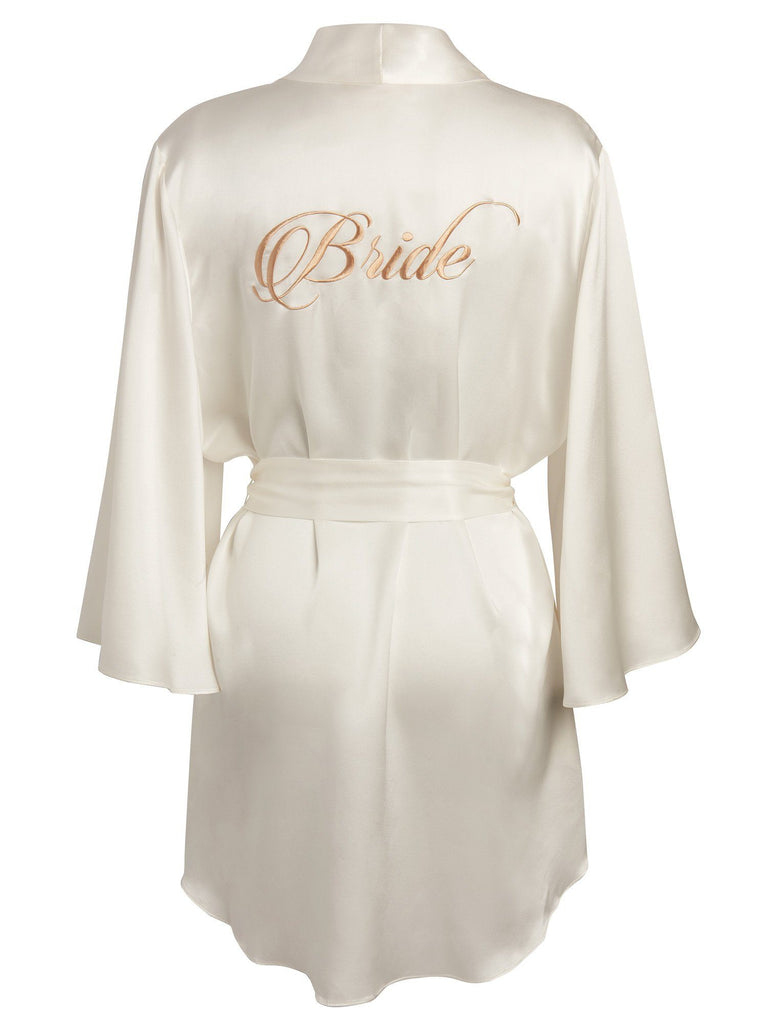 Bridal Robe - Bride in Gold Robes by Le Marché by NP
