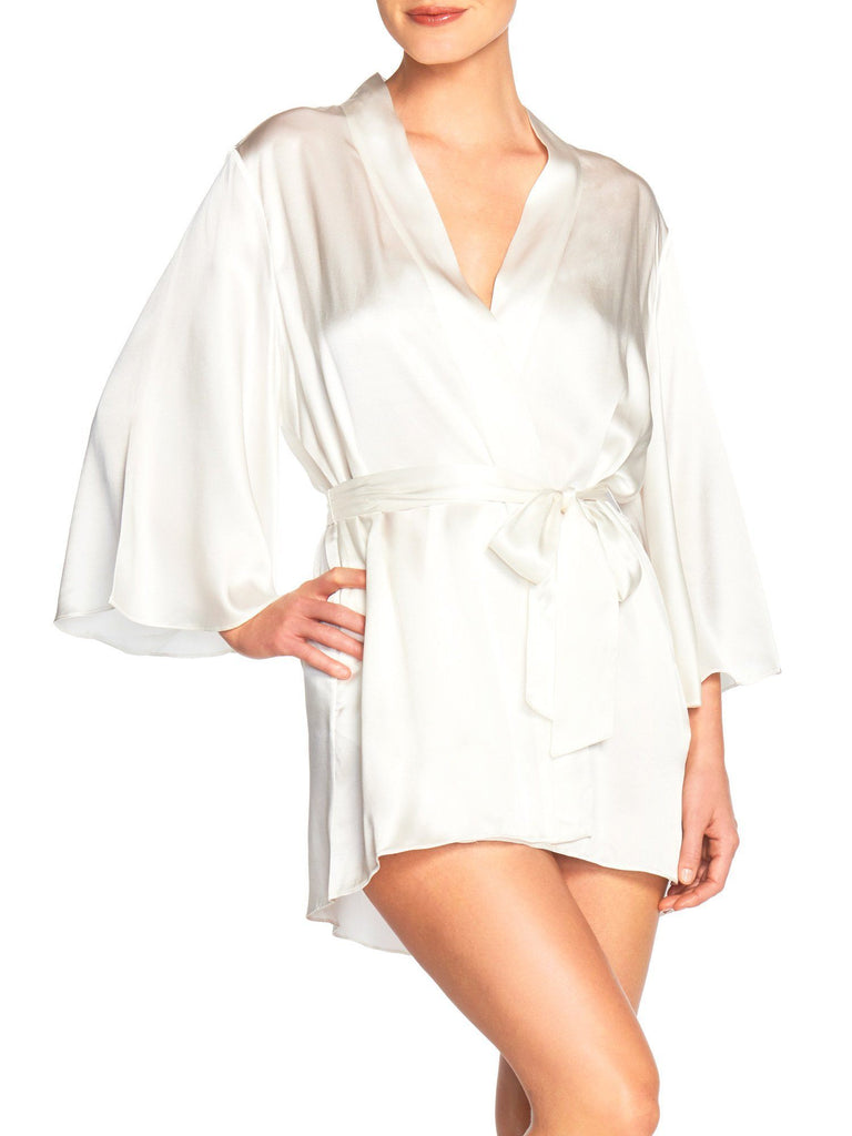 Bridal Robe - Bride in Blue Robes by Le Marché by NP