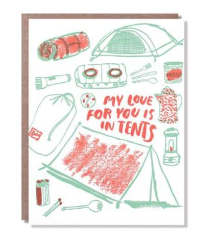 Love For You Is In Tents Card