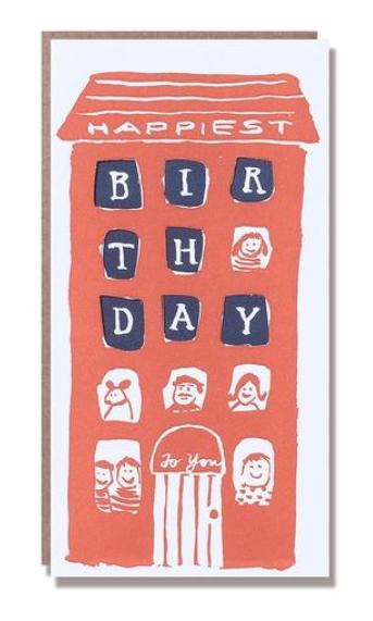 Birthday Brownstone Card