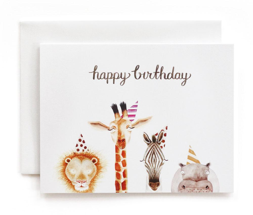 A2 Card - Safari Birthday