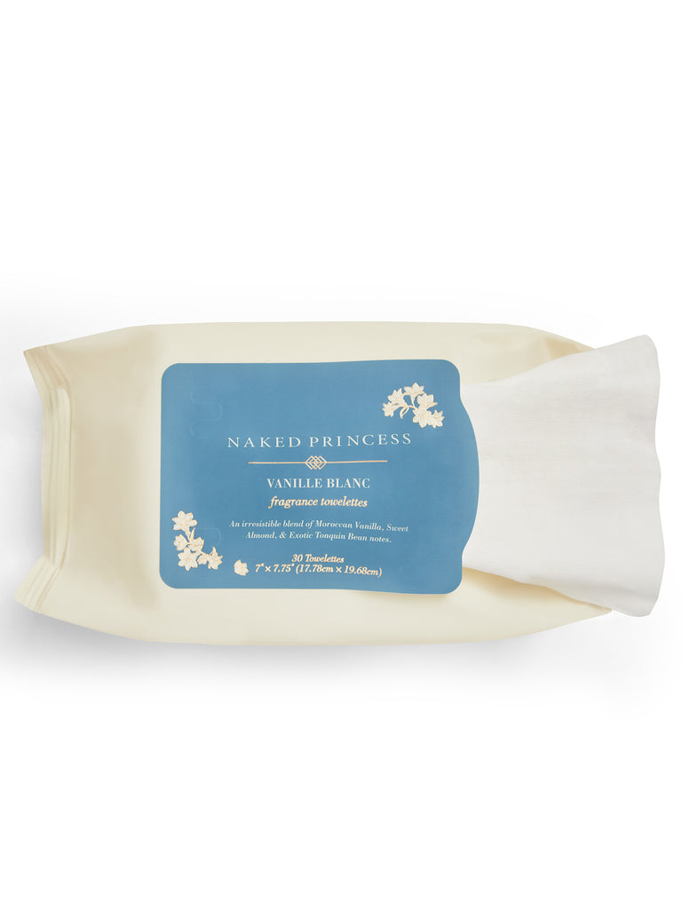 Fragrance Towelettes - 30 Ct- Vanille Blanc
