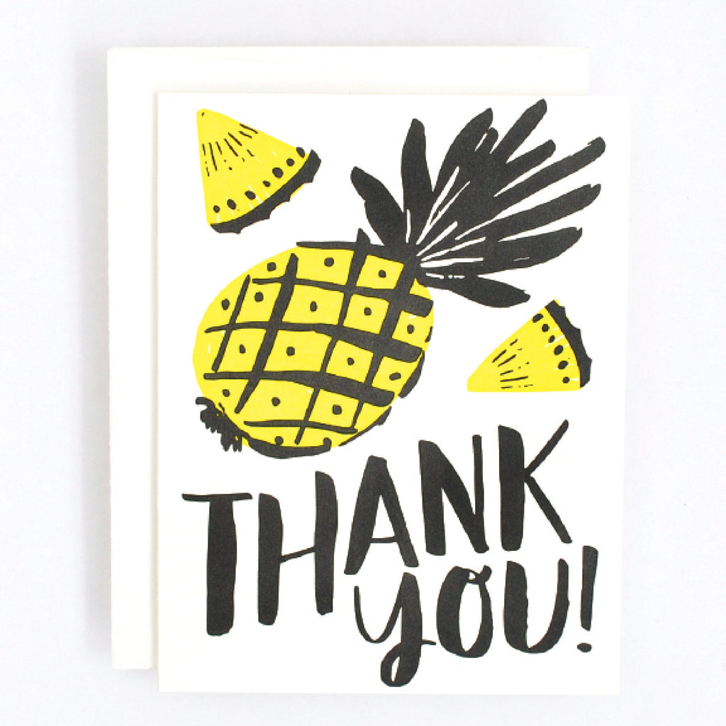 Pineapple Thanks Card