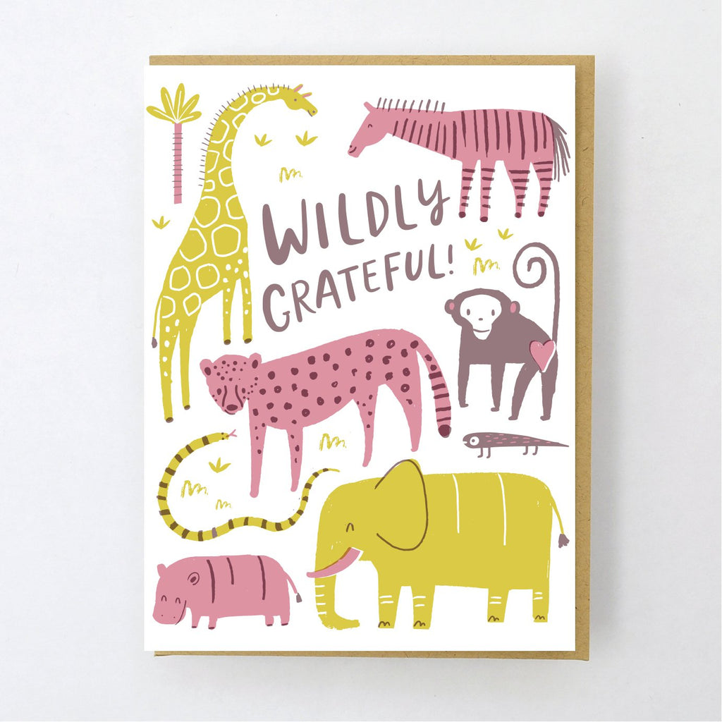 Wildly Grateful Thanks Card