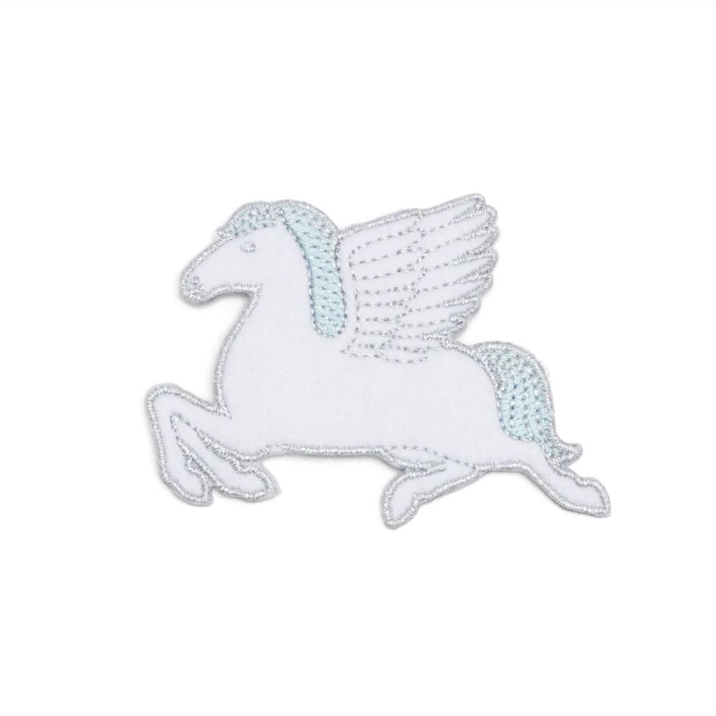 Pegasus Embroidered Patch (White/Silver)