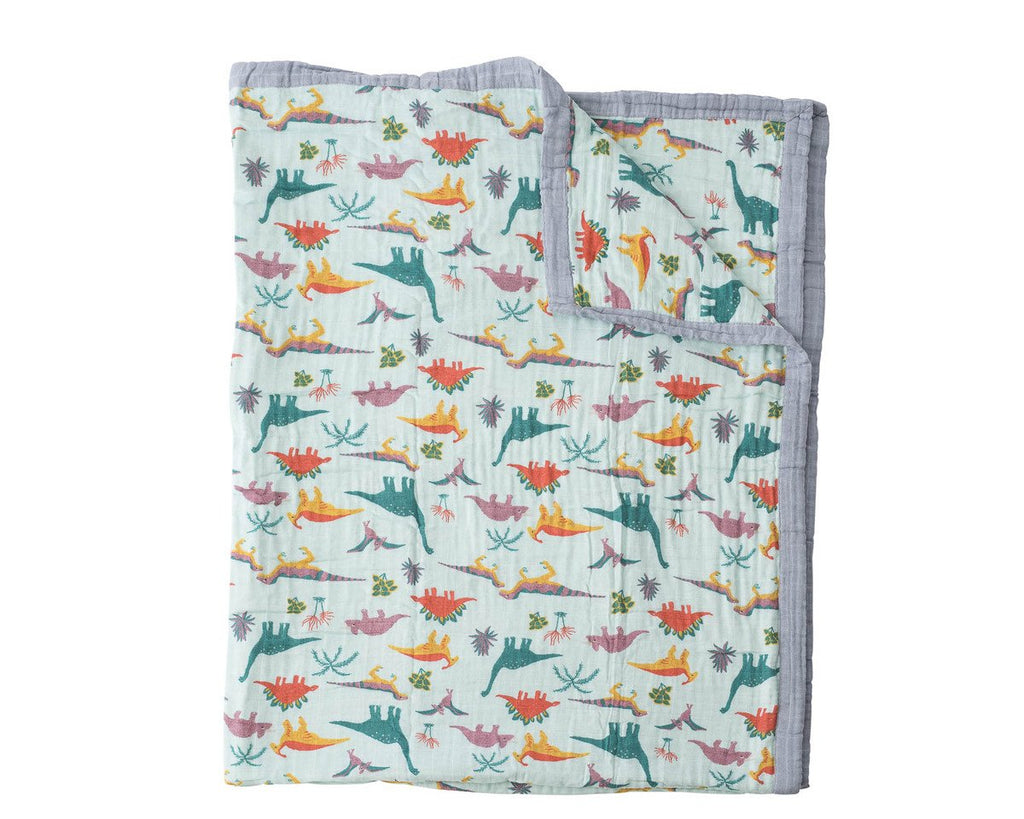 Cotton Muslin Quilt Big Kid - Embroidosaurus