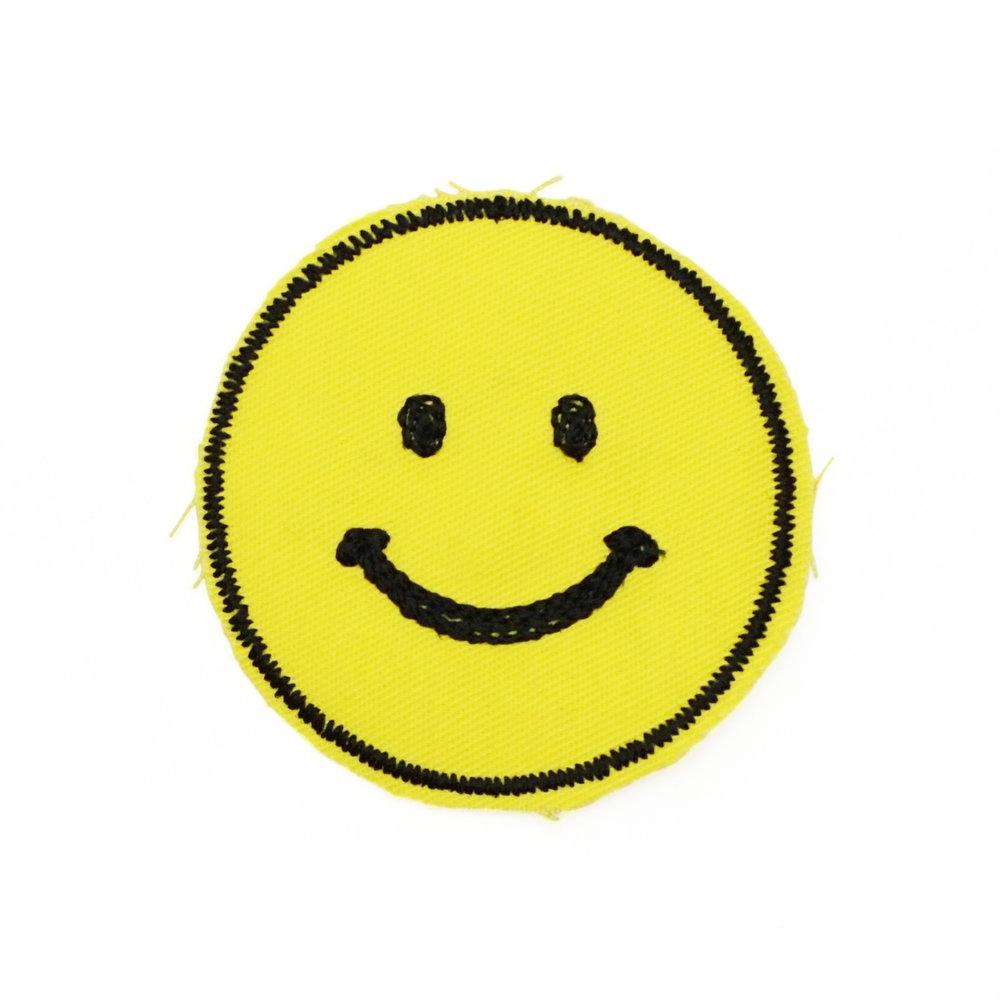 Smiley Face Stiched Patch