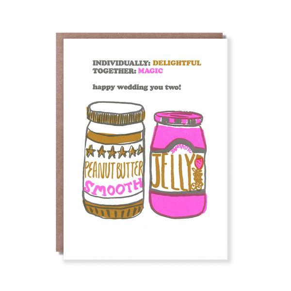PB&J Wedding Card