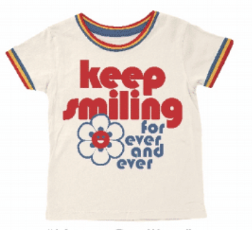Keep Smiling Ringer Tee