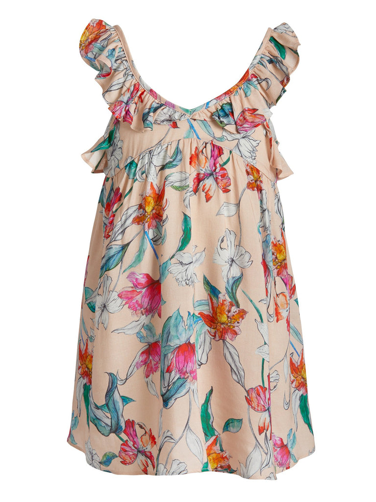Serafina Mini Ruffle Kids Floral Dress from Le Marché by NP