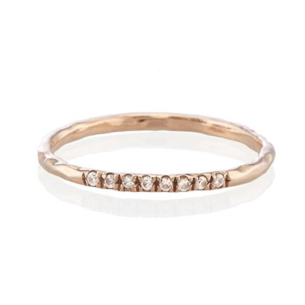 Pave Diamond Arc Ring