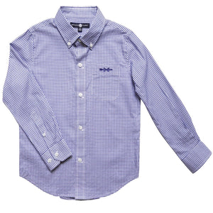 Bowen Arrow Button Down – Battery Blue Windowpane