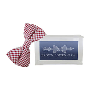 Boys Bowentie – Rutledge Red Gingham