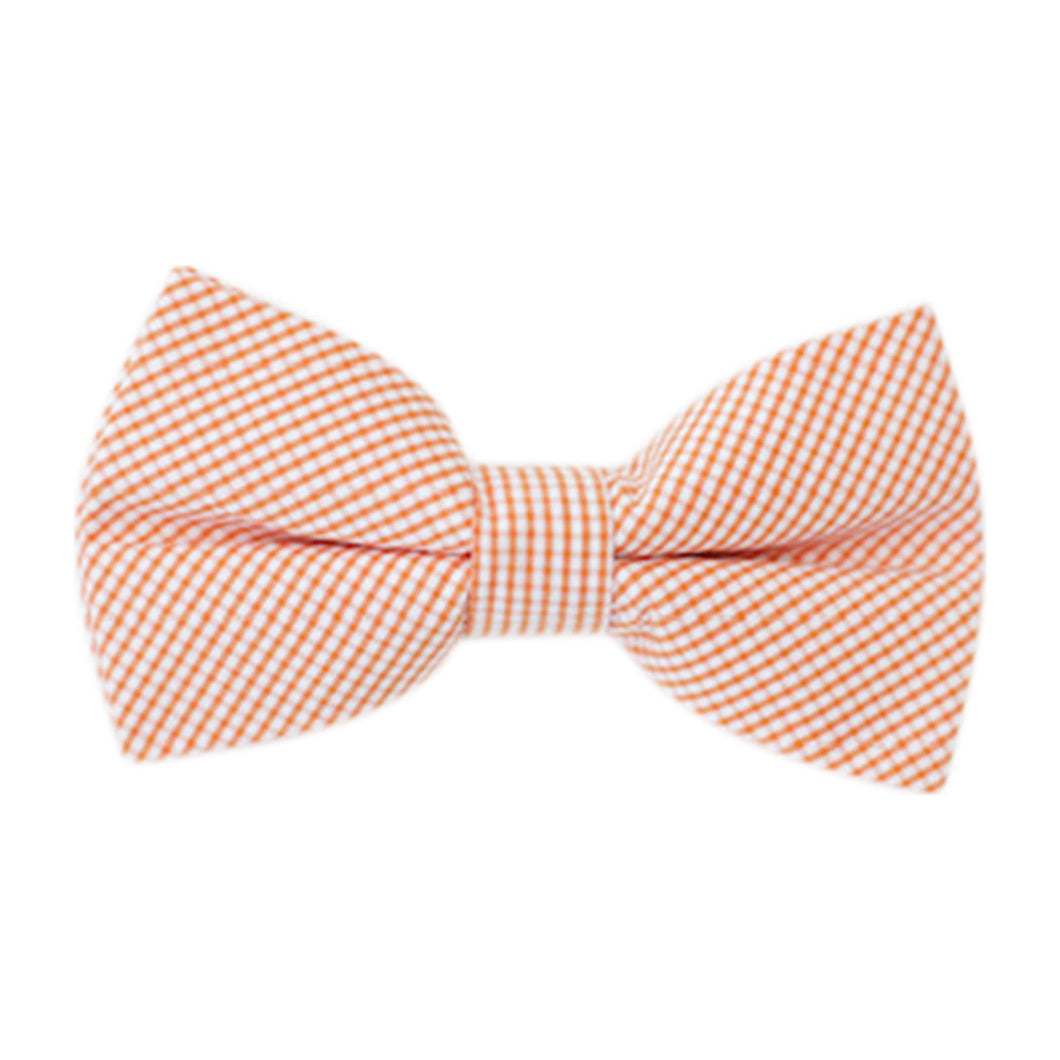 Boys Bowentie – Oyster Point Orange Gingham