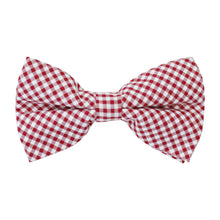 Load image into Gallery viewer, Boys Bowentie – Rutledge Red Gingham