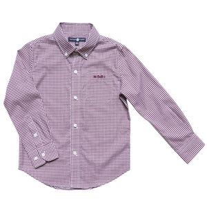 Bowen Arrow Button Down – Gadsden Garnet Gingham