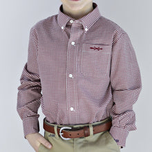 Load image into Gallery viewer, Bowen Arrow Button Down – Gadsden Garnet Gingham
