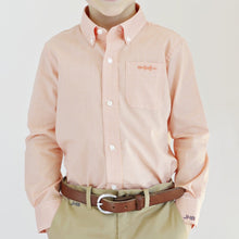Load image into Gallery viewer, Bowen Arrow Button Down – Oyster Point Orange Gingham