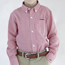 Load image into Gallery viewer, Bowen Arrow Button Down – Rutledge Red Gingham
