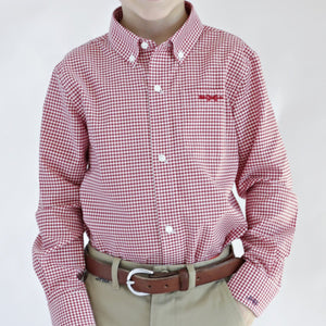 Bowen Arrow Button Down – Rutledge Red Gingham