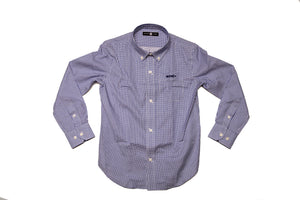 A Battery Blue Windowpane button down shirt