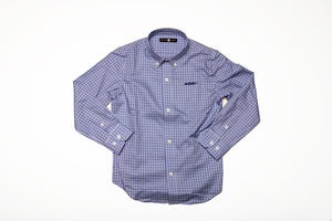 A Hadrells Point Plaid button down shirt
