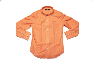 An Oyster Point Orange Gingham button down shirt