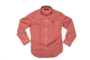 A Rutledge Red Gingham button down shirt