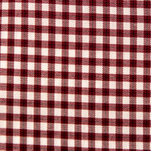 Load image into Gallery viewer, A swatch of Gadsten Garnet Gingham fabric