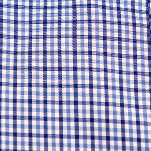 Swatch of Haddrell's Point Plaid (two-tone blue) fabric