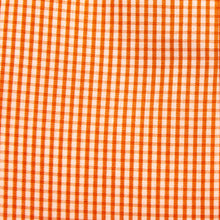 Load image into Gallery viewer, A swatch of Oyster Point Orange Gingham fabric