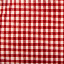 Load image into Gallery viewer, A swatch of Rutledge Red Gingham fabric.