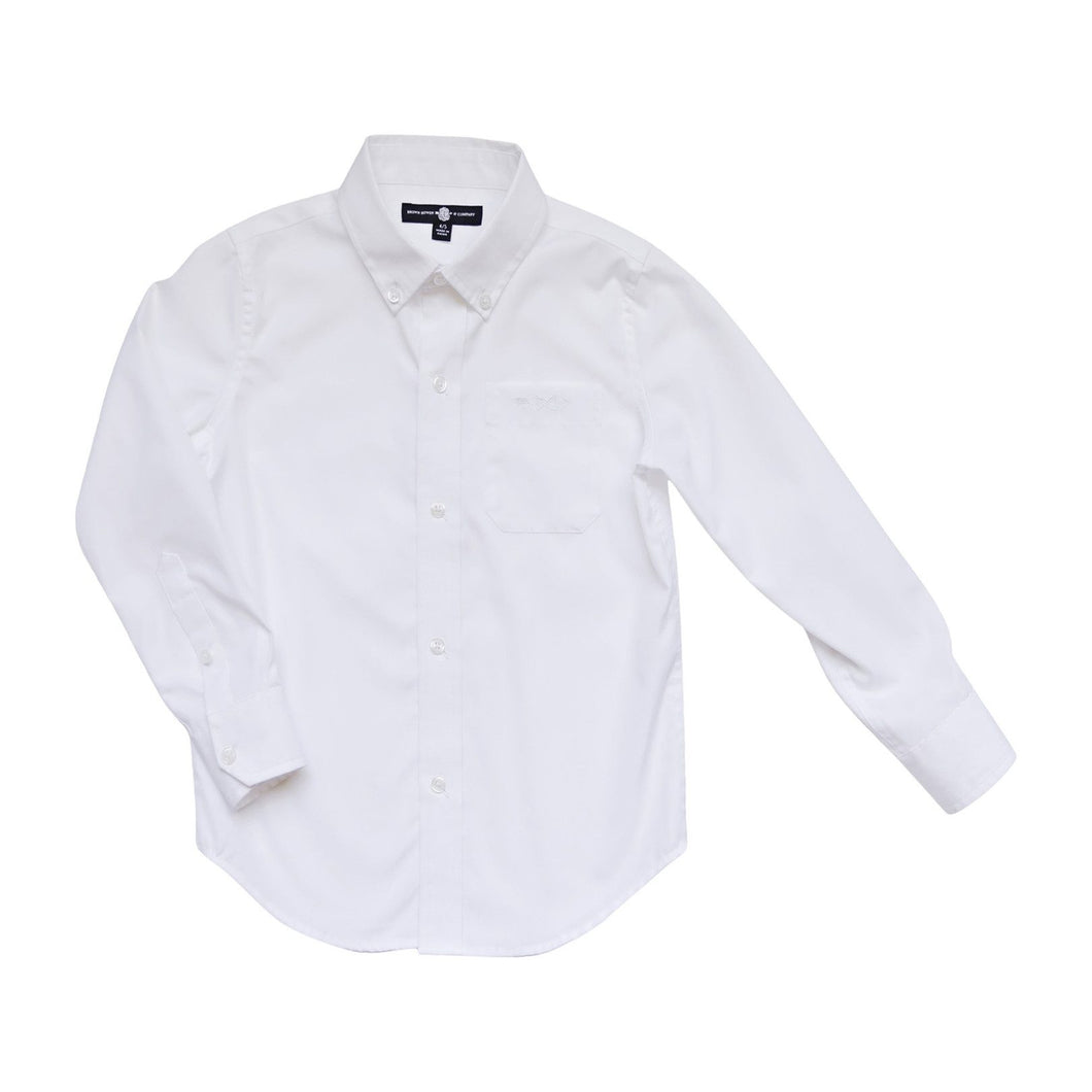 Bowen Arrow Button Down – Wentworth White
