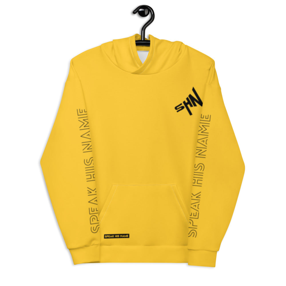 SPEAK CROSS™ HOODIE - YELLOW - Speak His Name