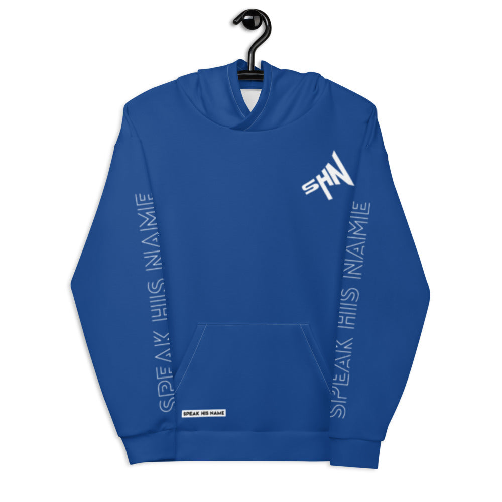 SPEAK CROSS™ HOODIE - BLUE - Speak His Name