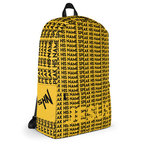 SPEAK GEAR™ BACKPACK YELLOW - Speak His Name