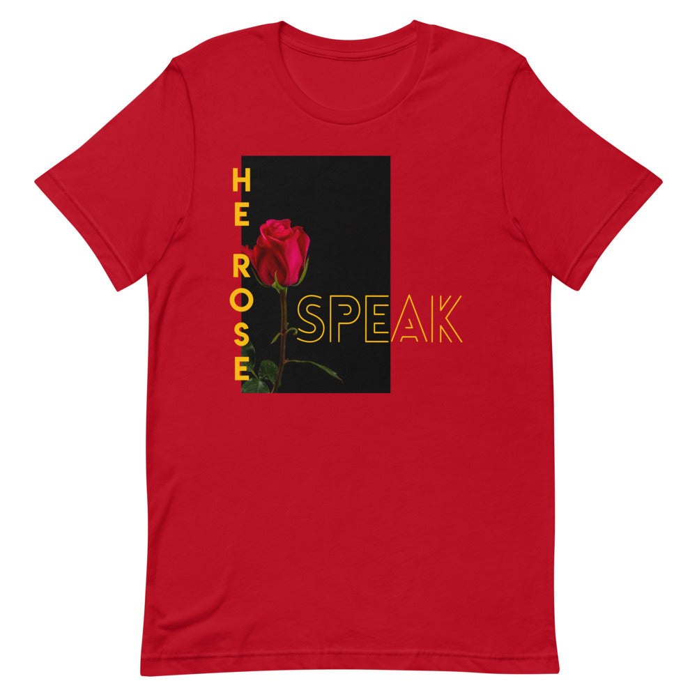 SPEAK HE ROSE™ TEE - RED - Speak His Name