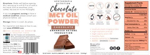 Chocolate MCT Oil Powder