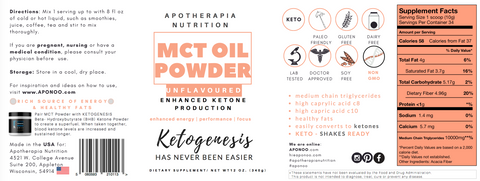 MCT Oil Powder - Unflavoured