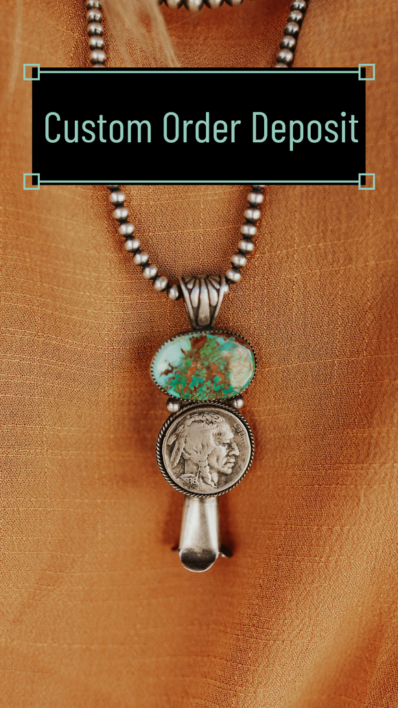 Buffalo Nickel Blossom Pendant