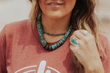 Three Bead Buffalo Nickel Necklace