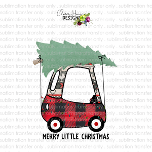 Christmas Cozy Coupe (Sublimation Transfer)