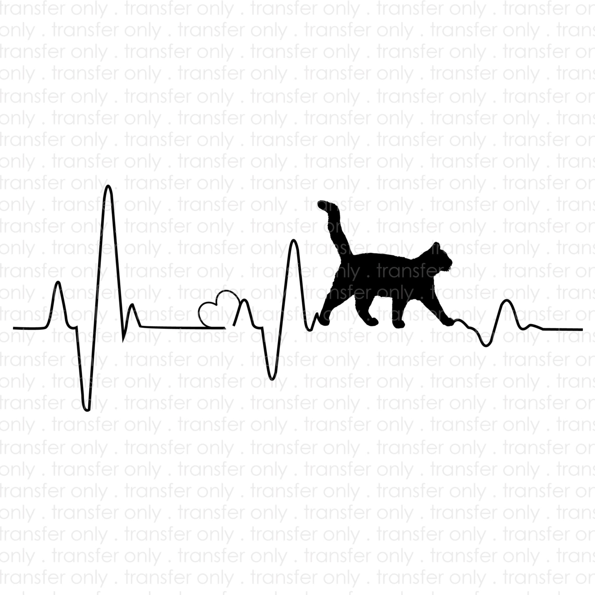 Heartbeat Cat (Sublimation Transfer)