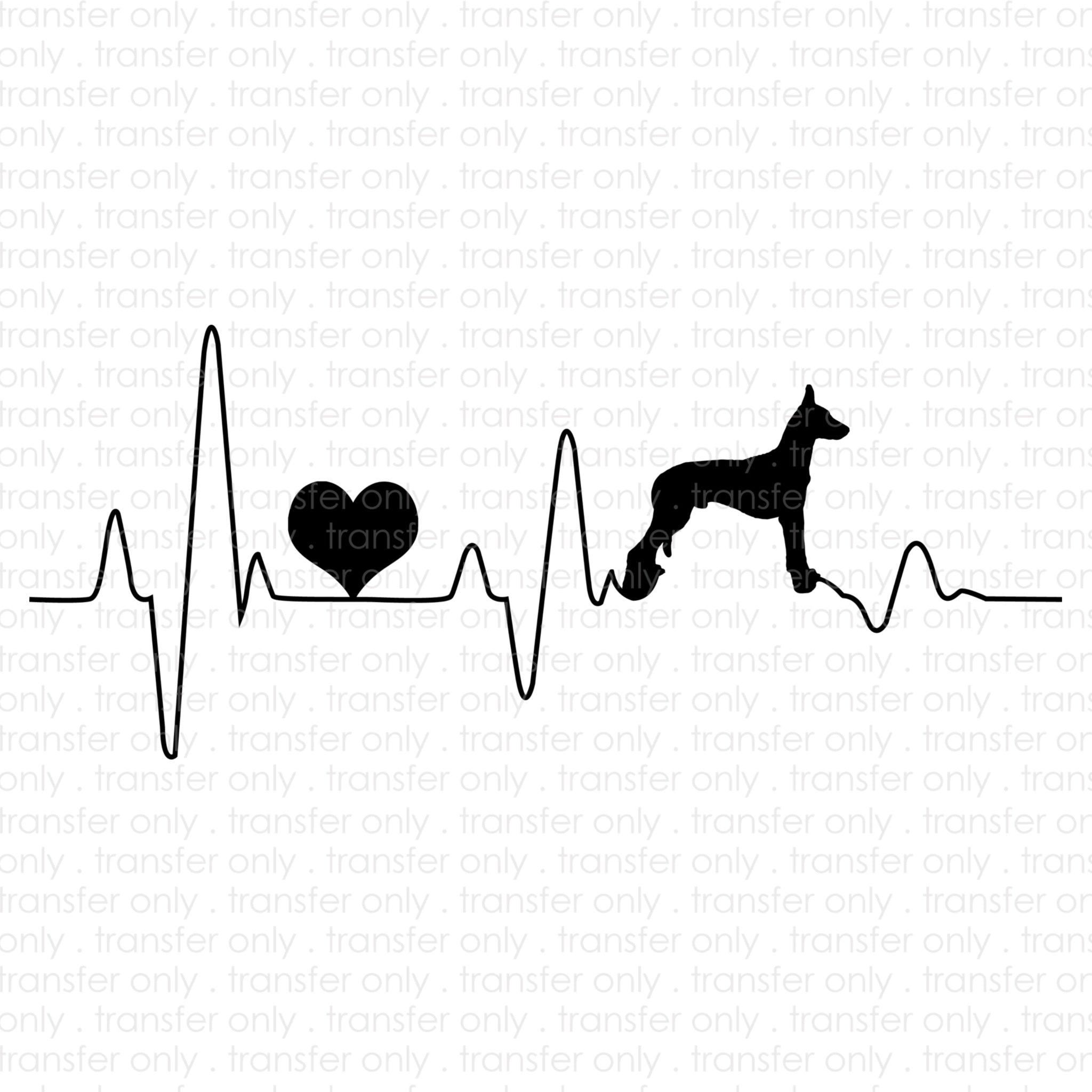 Heartbeat Dog (Sublimation Transfer)