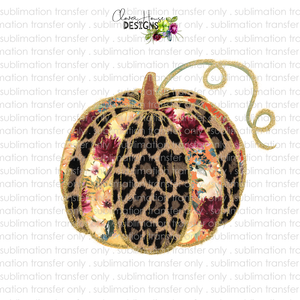 Leopard Pumpkin (Sublimation Transfer)
