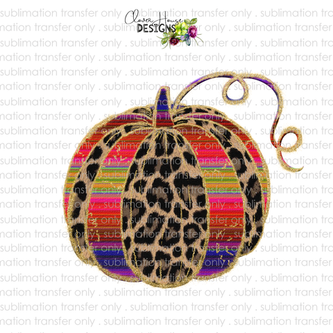 Leopard Serape Pumpkin 2 (Sublimation Transfer)